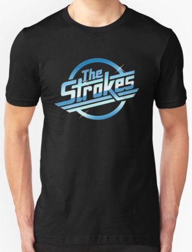 124e212e New The Strokes Logo Men's T-shirt size S-2XL Men Women Unisex Fashion  tshirt Free Shipping