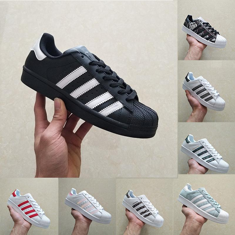 Xin Casual Originals Superstar White Hologram Iridescent Junior Superstars 80s Pride Sneakers Super Star Mujer Hombre Deporte Zapatos casuales 36-44