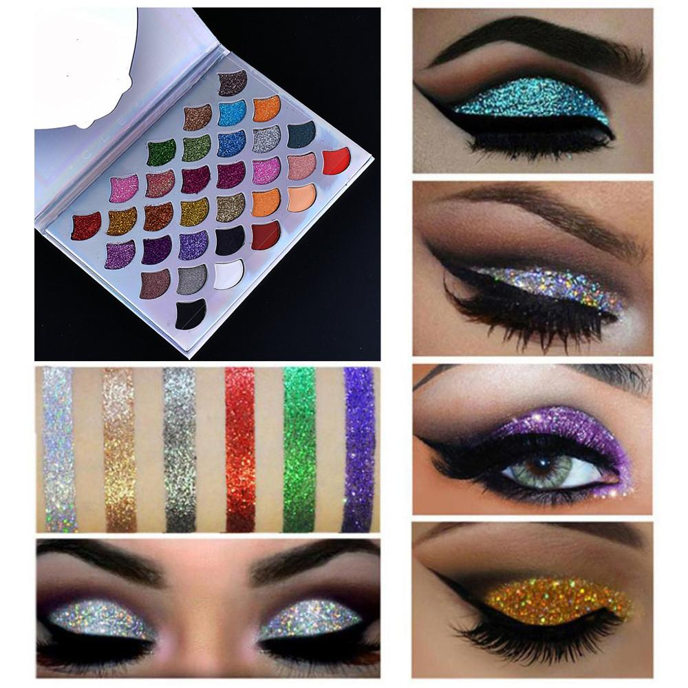 32 Color Professional Colorful Scales Eye Shadow Makeup Palette Pearly Matte Multi-Function Not Blooming Waterproof #YL1