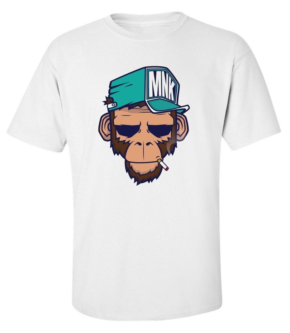 5721b8ad6c327e Hip Hop Monkey Funny Rap Music Animal Printed Cotton Men T-shirt Top Tee  Online with $13.66/Piece on Tshirtsdesign49's Store | DHgate.com