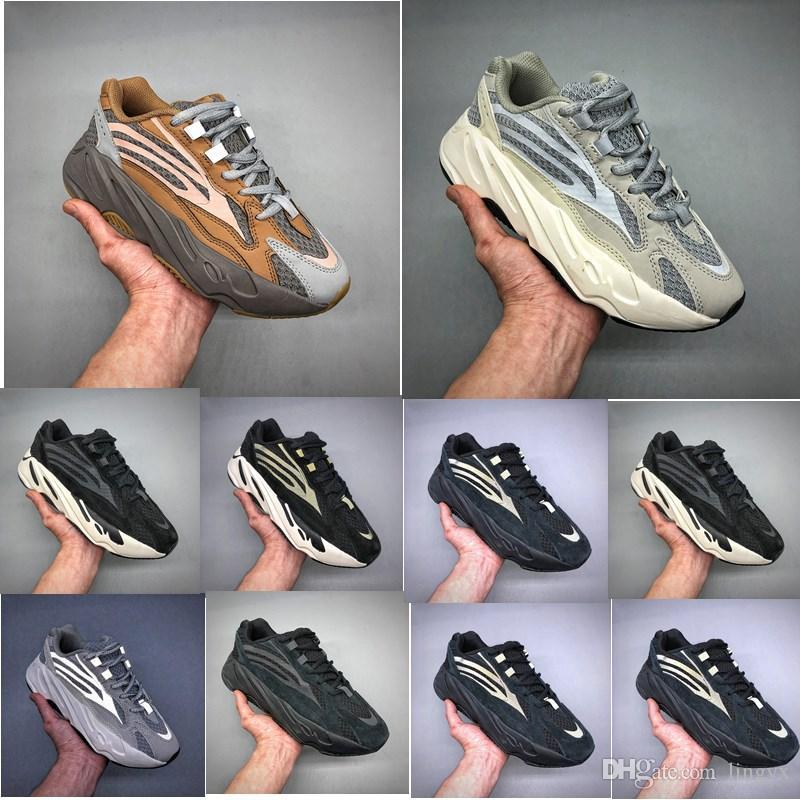 meet 7edb9 d9e7c adidas Yeezy Boost 700 v2 Wave Runner 700 V2 Geode Inertia Statique OG  Solide Gris Mauve Hommes Kanye West Chaussures De Course Femmes Mode Sport  ...