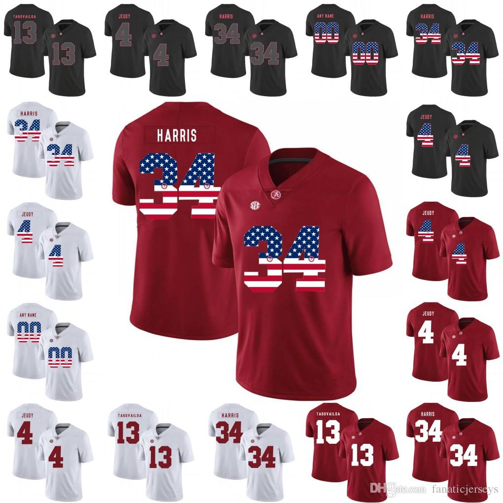 new style c3bf7 04985 Mens Alabama Crimson Tide Jersey 13 Tua Tagovailoa 10 Mac Jones 7 Braxton  Barker 37 Dalton Adkison 16 Kyle Edwards College Football Jerseys
