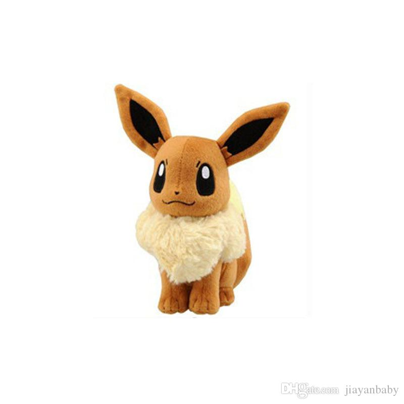 30cm Center Plush toys Pikachu dolls Jolteon Umbreon Flareon Eevee Espeon Vaporeon Kids Children Toy gifts 9 styles in stock