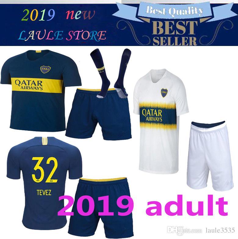 buy popular 72a5d aa5b4 new 2018 20109 Boca Juniors Home Adult kit Soccer jerseys Uniforms Men's  Thai Quality Soccer Jersey Away GAGO TEVEZ Football shorts+socks