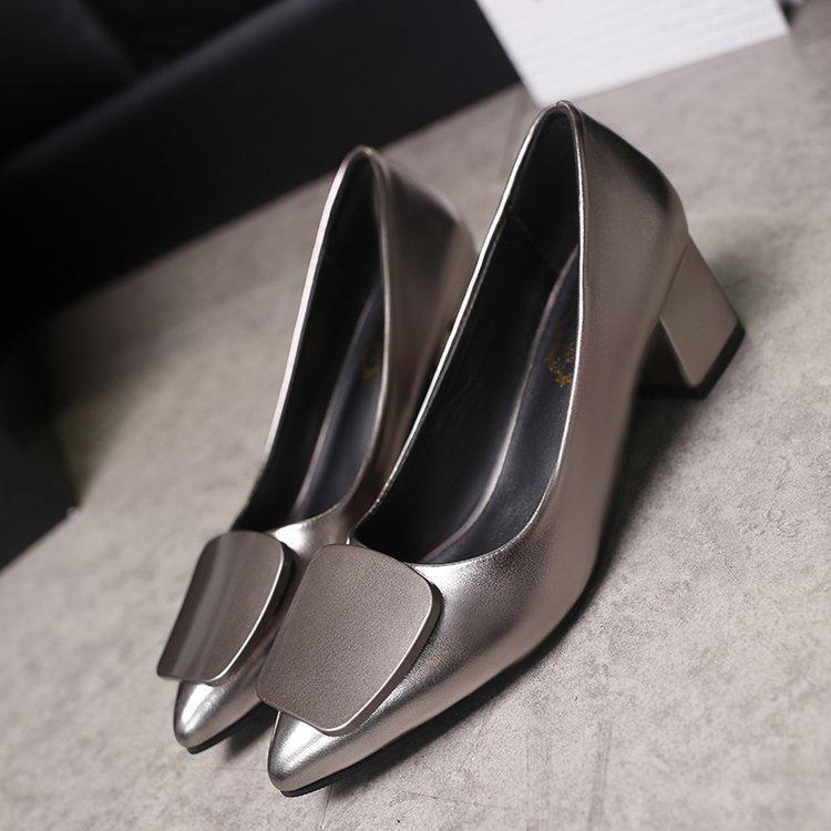 Designer Dress Shoes Fashion Women Pumps 5cm Square Heels
