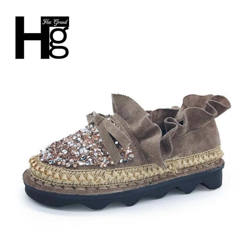 348410a2369 Hee Grand Spring Crystal Unique Woman Causal Students Flock Autumn Platform  Plastic Bling Bling Shoes Women Size 35 40 Xwd6109 Prom Shoes Hiking Shoes  From ...