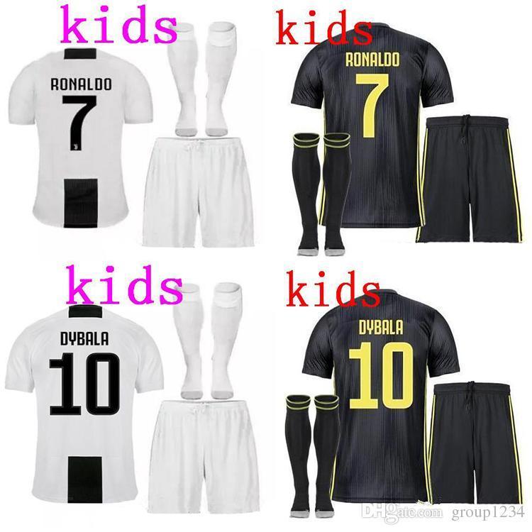 04ad9ca3c0c Juventus Soccer Jersey Kids Kit 2018/19 RONALDO DYBALA HIGUAIN DANI ALVES  PJANIC Marchisio Child 2018 2019 Soccer Shirt Uniforms Online with  $22.25/Piece on ...