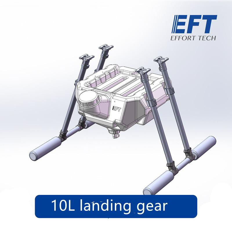 Carbon fiber landing gear stand with 10L Water tank Medicine box for spray  pump syst Agricultural multi-rotor drone Hexacopter