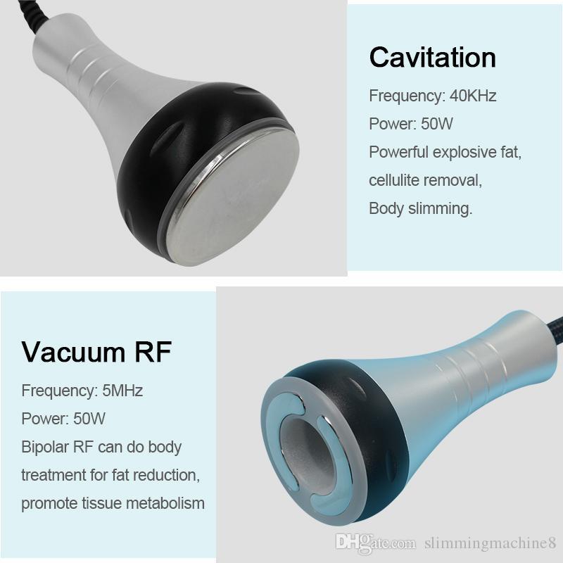 5in1 élimination sous vide portable à vide à radiofréquence RF bipolaire cavitation ultrasonique liposuccion cellulite machine à brûler les graisses à ultrasons