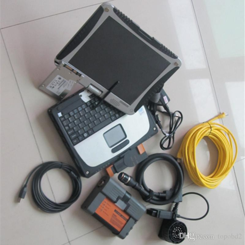 For bmw diagnostic tester icom a2 b c 3 in1 with laptop CF-19 4g 480GB ssd 2019 ista d / p expert mode ready to use