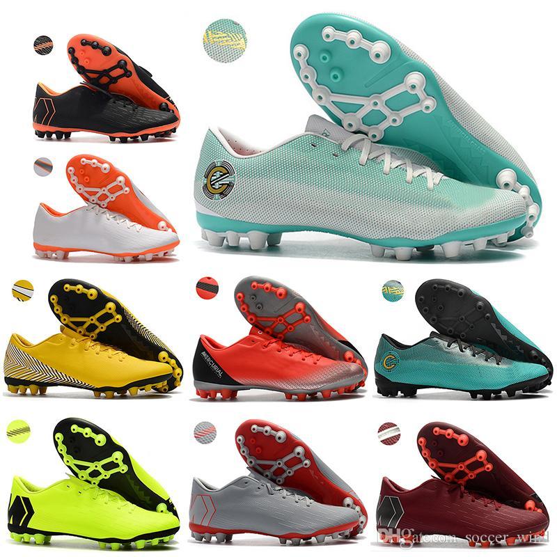 New Mens Low Ankle Football Boots Vapor 12 Academy CR7 AG-R Soccer ... 45db145c7