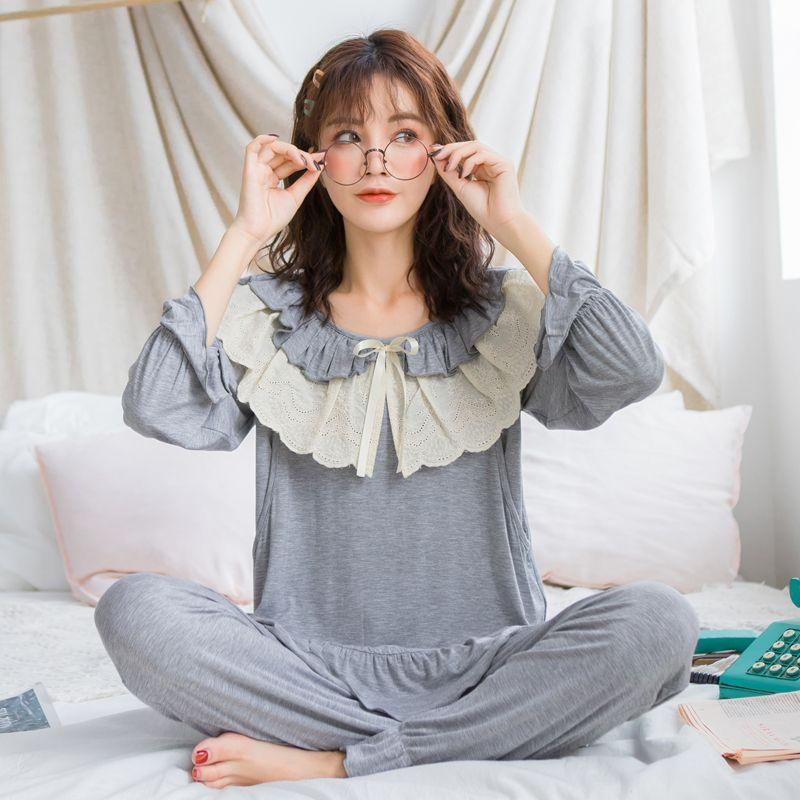 378f95743baac Maternity Nightwear For Nursing Pajamas Spring Autumn Korean Modal  Breastfeeding Sleepwear Loose Soft Pregnancy Clothes Set A316 Sleep &  Lounge Cheap Sleep ...