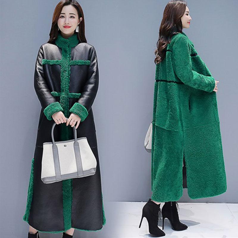 fc808af78ac 2019 Sheep Shearling Faux Fur Coats 2019 X Long Warm Women S Fur Coat  Female Plus Size Winter Jacket Women Real Wool Overcoat 868 From Baldwing
