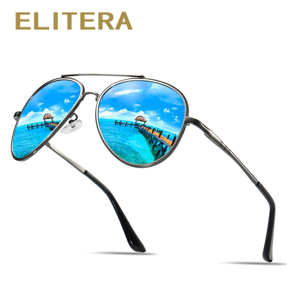 ee4643caca ELITERA Male Classic Pilot Sunglasses HD Polarized Lens Brand Design Men  Round Eyewear Sunglasses Brands Best Sunglasses From Shuidianba