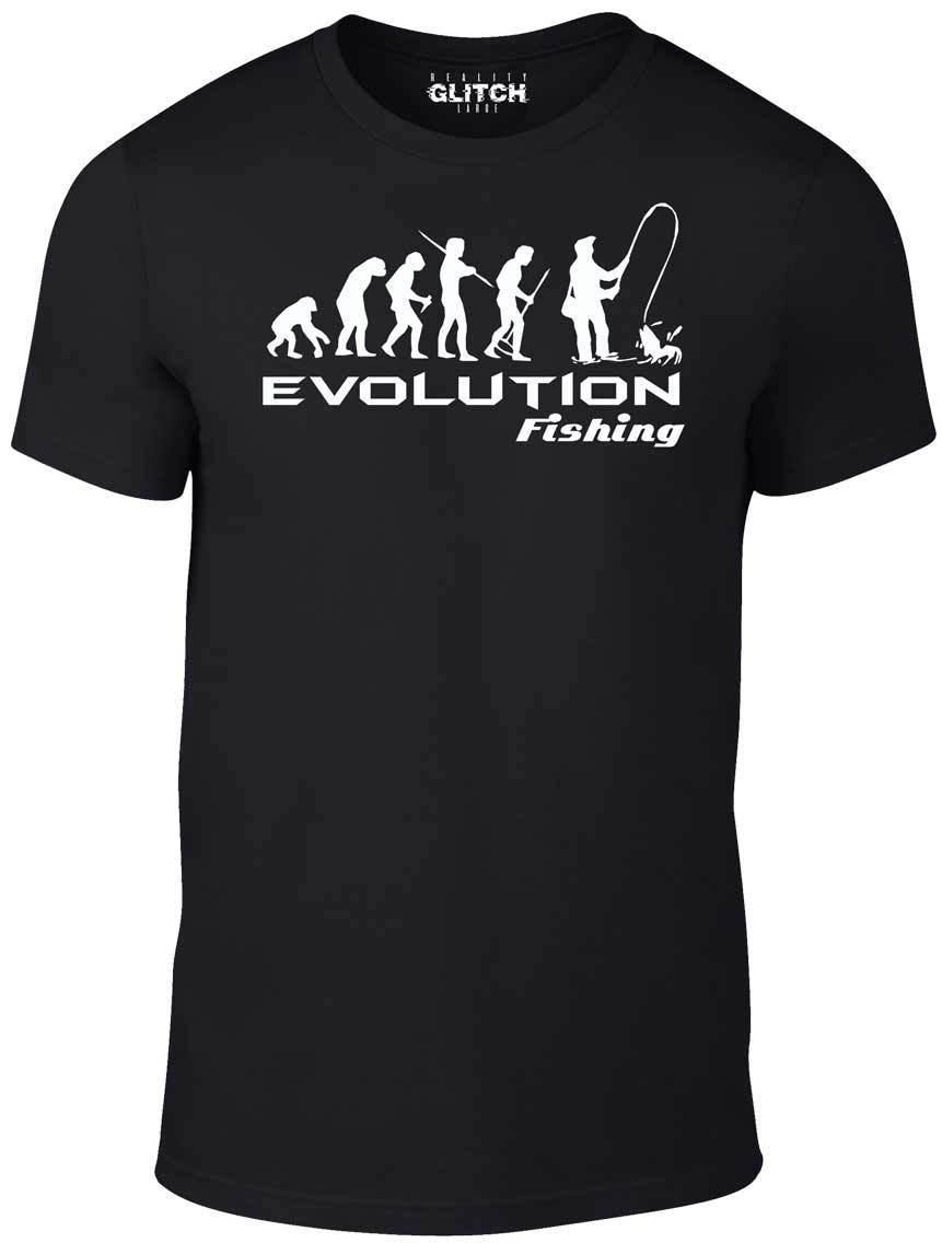 02df0a6f Evolution Of Fishing T Shirt Funny T Shirt Fish Fisherman Retro Angling  Comic Cool Casual Pride T Shirt Men Unisex New Men Shirts T Shirt Online  From ...