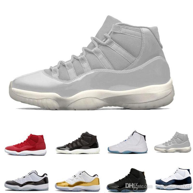 11 Zapatillas de baloncesto para hombre 11s New Concord 45 Platinum Tint Space Jam Gym Red Win Like 96 XI Designer Sneakers Men Sport H-521