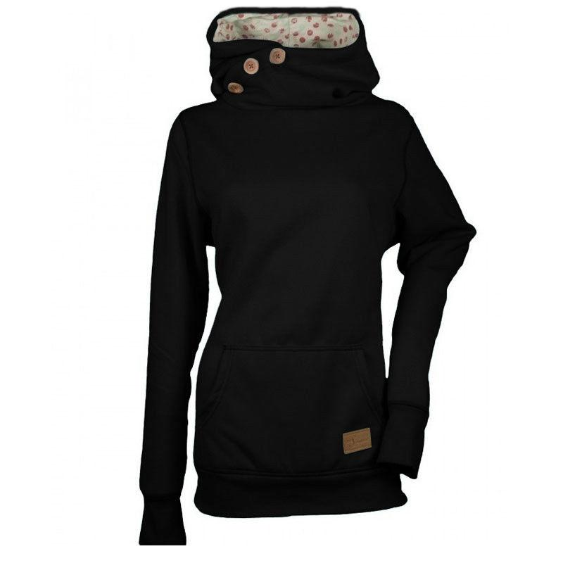 2019 Warm Autumn Winter Women S Black Gray Hooded Hoodies Sweatshirts Loose  Tunic Tops Pullover Trendy Sweatshirt With A Big Pocket From Lotustoot 2e273d1904