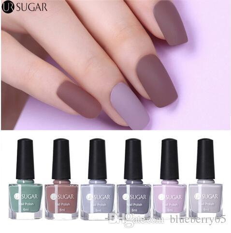 6ml Matte Nail Polish Pure Color Nail Art Varnish Matte Purple Grey ...