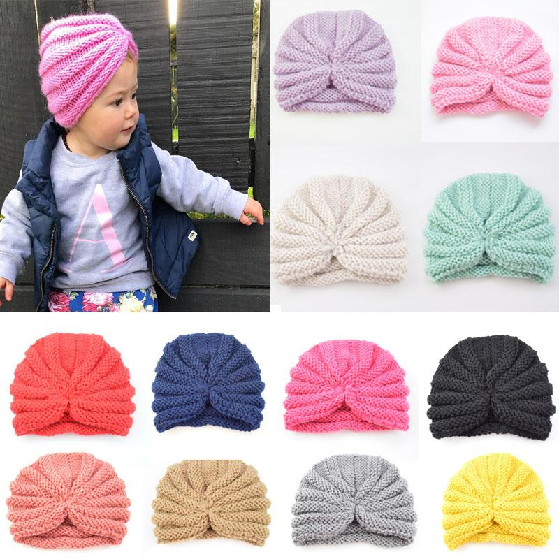 f3155f623f6 12 Styles Baby Kids Fashion Indian Knit Wool Cap Solid Crochet Beanie Hat  Children s Girls Boys Winter Comfortable Warmer Soft Hats M30F Knit Wool Cap  ...