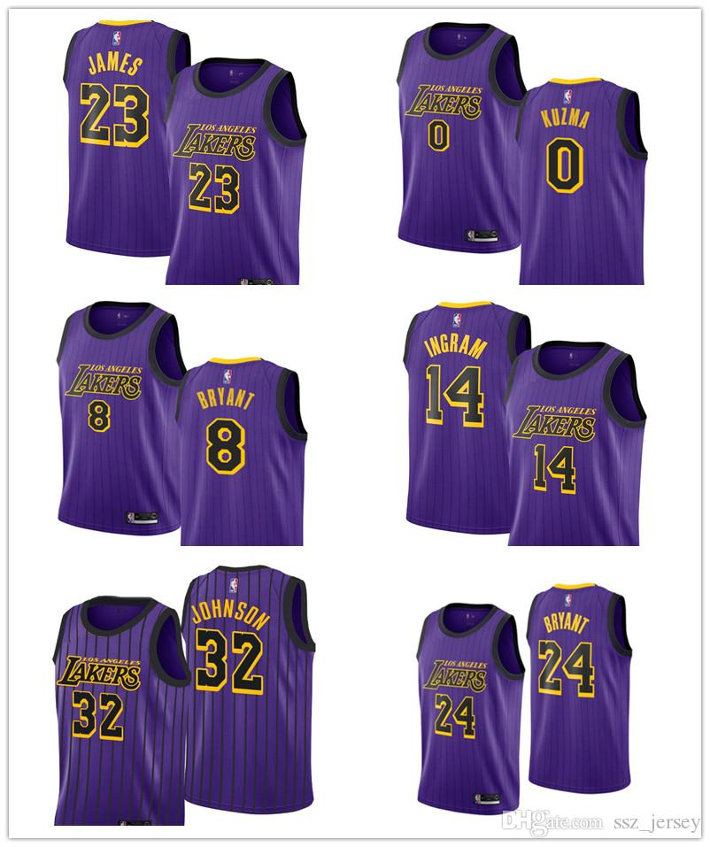 quality design 9c3cc 7107c Men Kobe Bryant Los Kobe Bryant LeBron James Jersey Laker 2018/19 Brandon  Ingram VaporKnit Magic Johnson Jersey