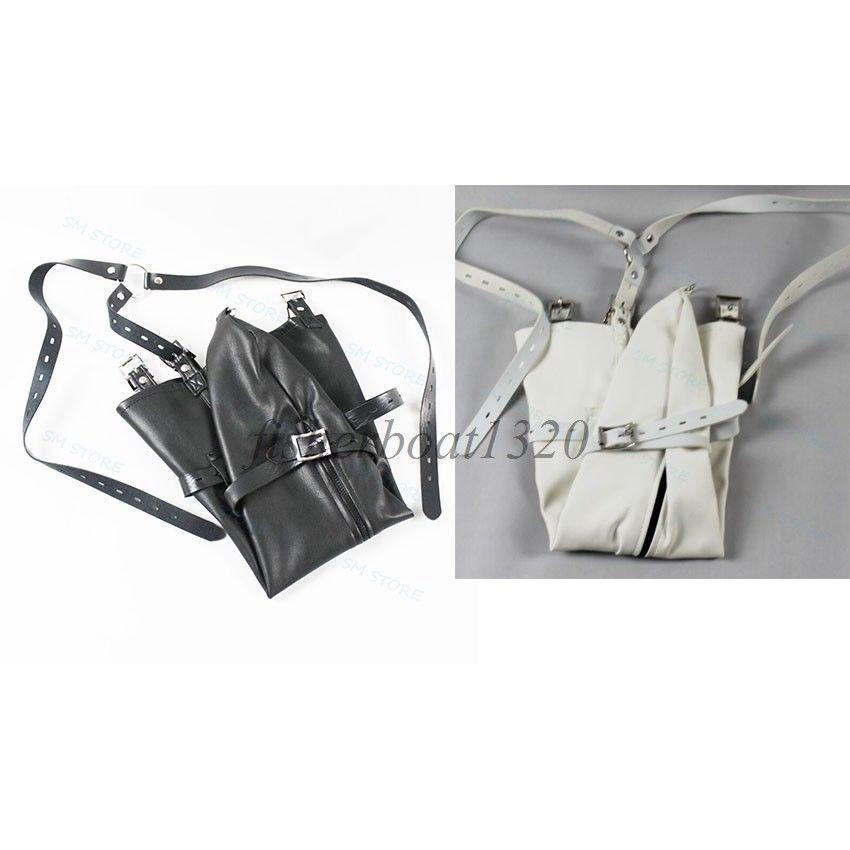Body Harness Sleeves Restraint Zip up Straight Jacket Regalo Glove Bondage Dress 854T