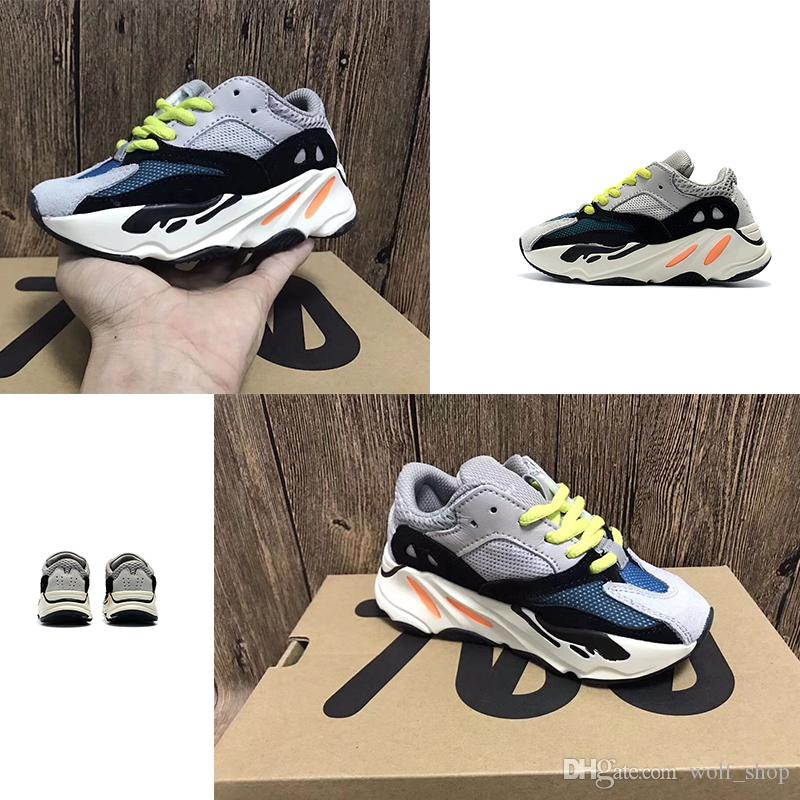 f1b503c3a 2018 Kids Shoes Kanye West Wave Runner 700 Running Shoes Boy Girl Trainer  Sneaker 700 Sport Shoe Children Athletic Shoes Cool Running Shoes Discount  Boys ...