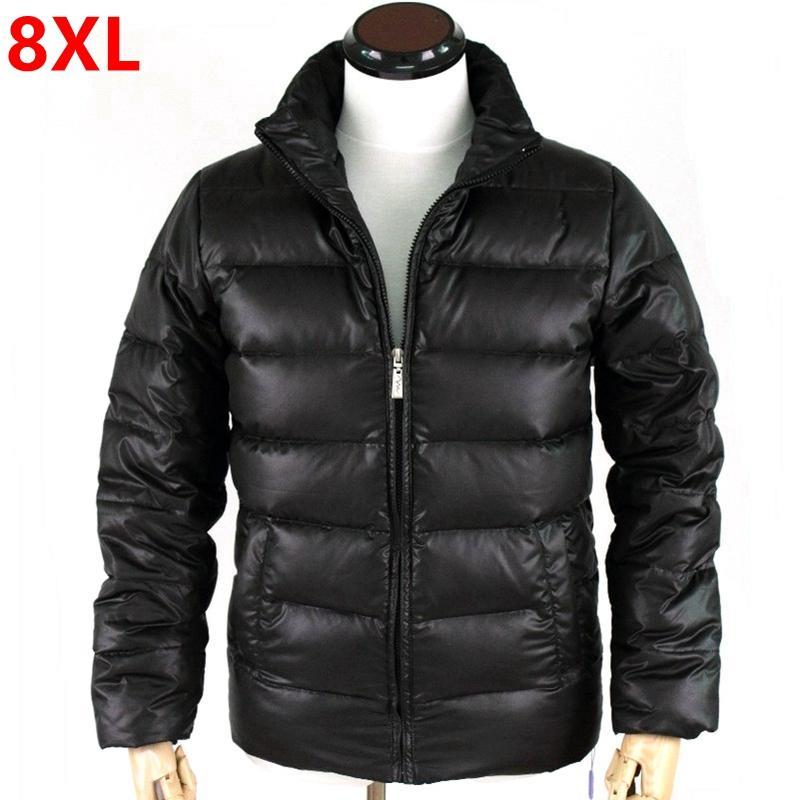 affe7a8a47e8b 2019 Plus Size Men S Oversized Extra Large Code Tide Men S Collar Coat Fat  Plus Fertilizer To Increase Down 8XL From Fabian05