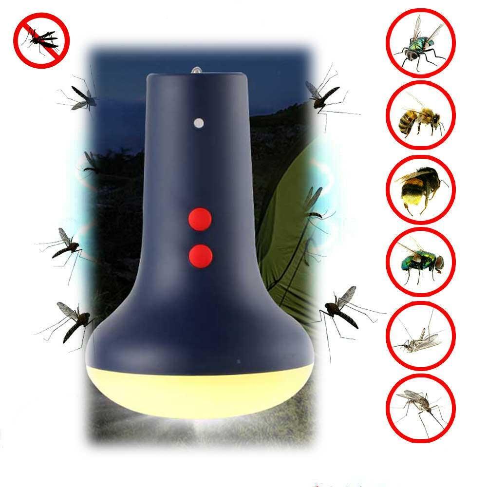 acampar al aire libre lámpara de repelente de mosquitos onda de luz la luz de ajuste de alcance múltiple