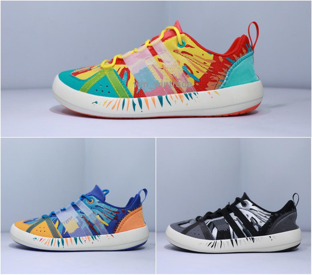 online store c7059 ae510 Mens Climacool BOAT LACE printing Shoes Cheap Fashion Women Comfortable  Athletic Casual Climacool Grip Sneakers 36-44