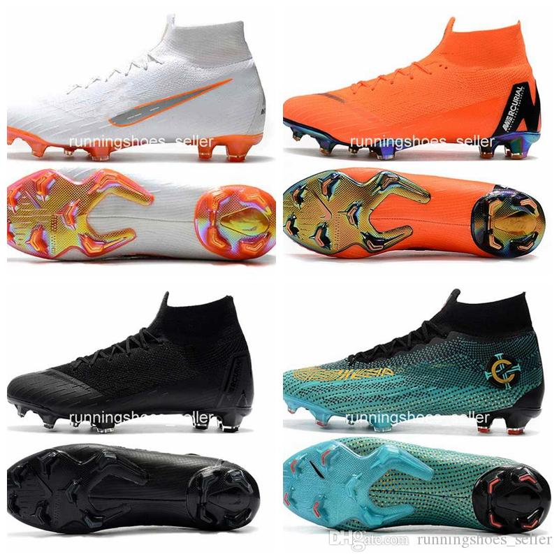 dcc187c02 2019 2019 Mercurial Superfly VI 360 Elite FG Fly Knit Kids Mens Soccer  Cleats Cr7 Chaussures Crampons De Football Botas De Fútbol Eur 35 45 From  ...