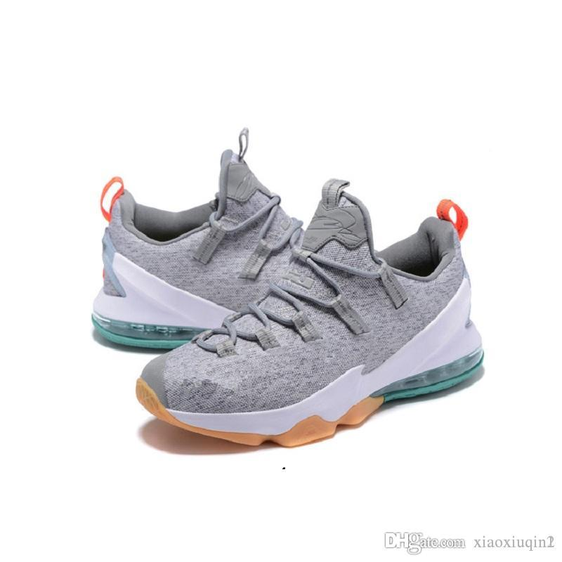 cheap for discount 5305d c37f4 Cheap Lebron 13 XIII low mens basketball shoes for sale Christmas BHM  Easter Halloween Akronite DB boots with original box Size 7 12