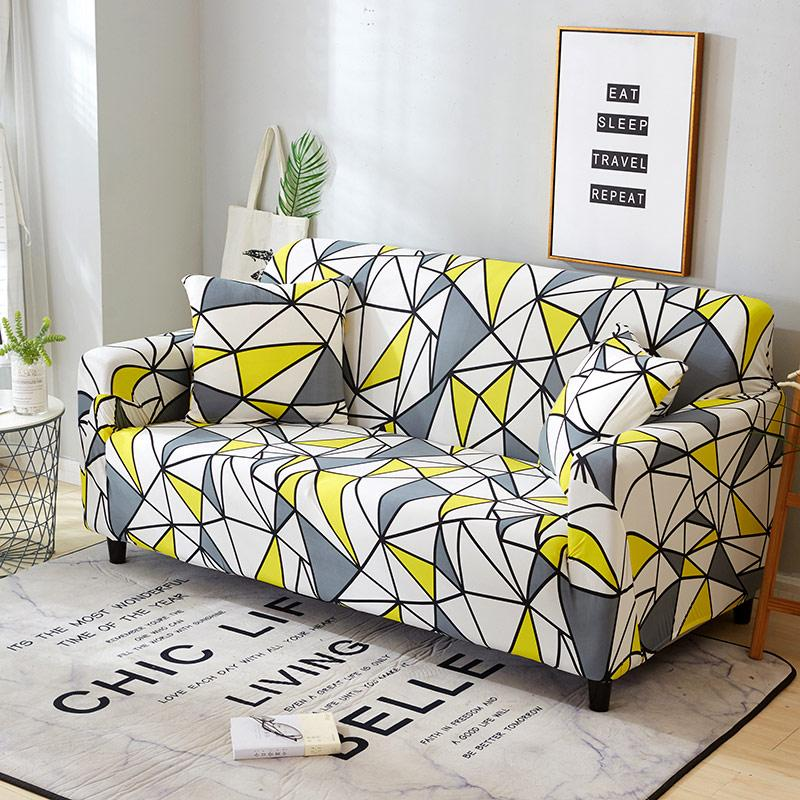 Plaid Sofa Cover Elastic Sofa Covers For Living Room Loveseat Stretch Furniture Covers Slipcovers For Armchairs Couch Cover 1pc