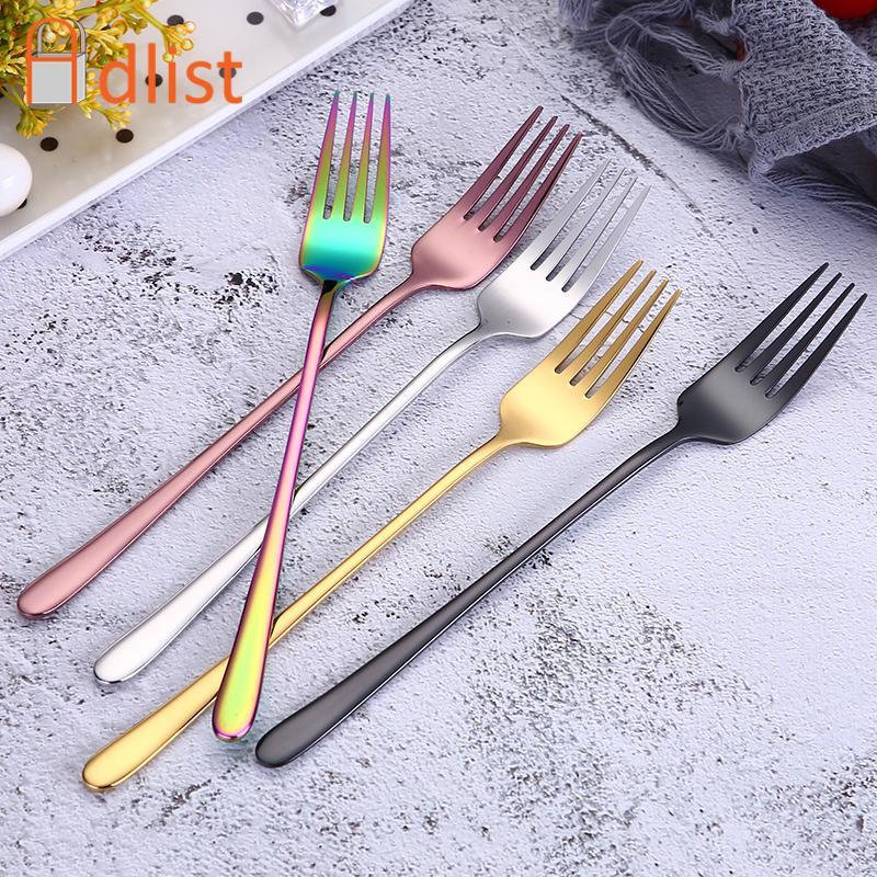 fd0f5b7afce Compre Aço Inoxidável Garfo Jantar Rainbow Rose Gold Garfos De Mesa De  Restaurante Talheres Talheres Conjunto Louça Louça Seguro De Sd888s
