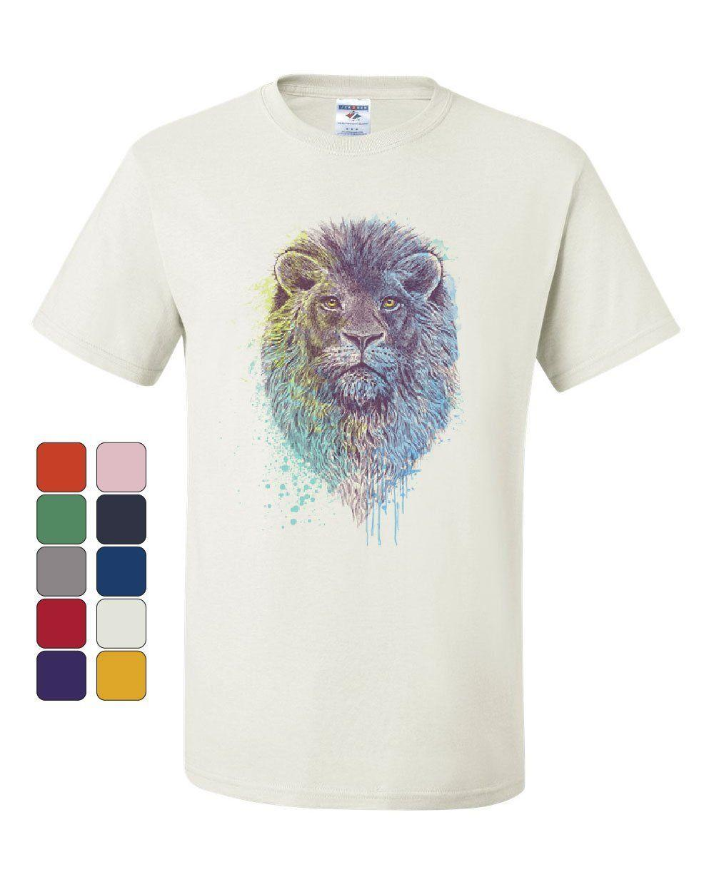 06636b03 Lion Head King Of The Jungle T Shirt Wildlife Animal Roar Safari Tee  ShirtFunny Unisex Casual Tshirt Top Cool Team Shirts Crazy Shirt Designs  From ...