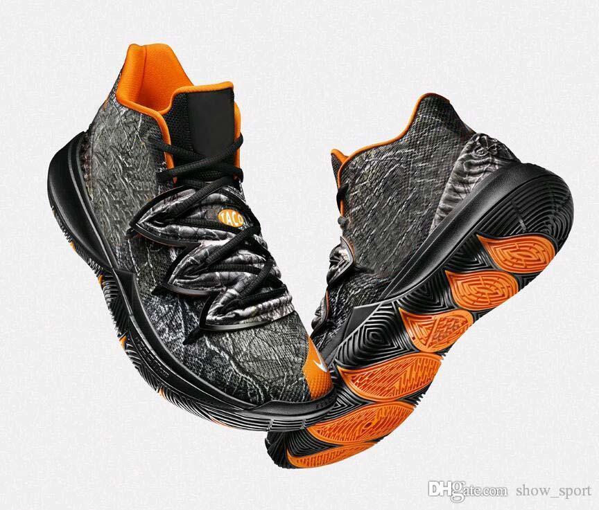huge discount a47d1 02835 Acheter 2019 Limited 5s Taco Chaussures De Basket Kyrie 5 Black Magic Pour  Kyrie Chaussures De Basketball Baskets Hommes Baskets Zapatillas 40 46 De   88.87 ...