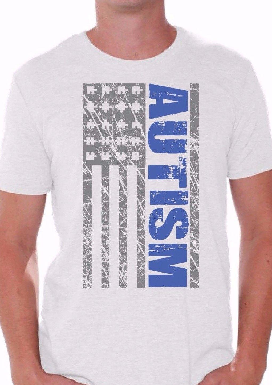 Blue Autism Flag T Shirt Autism Awareness Month Shirts April Custom