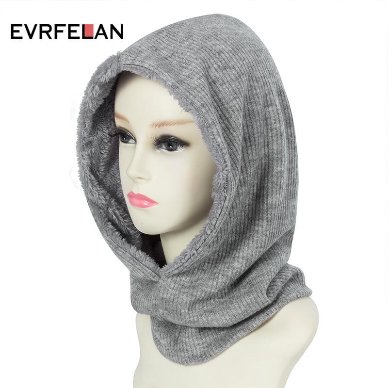 b744ccf21f3 Evrfelan New Design Winter Warm Beanie Hat For Women Thick Neck ...