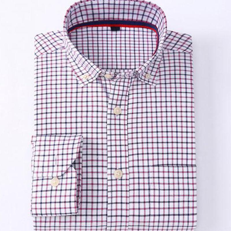 0fc43dc7fd Compre Homens Manga Longa Turn Down Collar Slim Fit Camisas Camisa ...