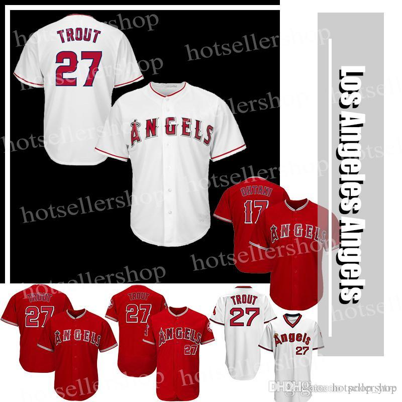 8dd5fecbefd Los Angeles Baseball Jersey 27 Mike Trout 17 Shohei Ohtani Cheap ...