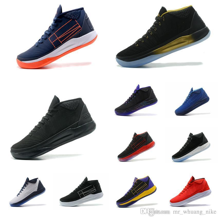 the latest eda81 88b01 2019 Cheap Men Kobe AD Mid 12 XII Elite Basketball Shoes BHM Triple Black  White Gold Purple Blue ID KB Air Flights Sneakers Boots Tennis For Sale From  ...