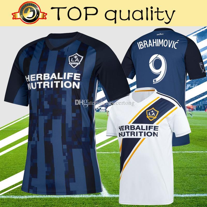 b0a29dfce18 2019 Top Quality MLS 2019 LA Galaxy Soccer Jersey Home White Away Navy Blue Zlatan  Ibrahimovic Los Angeles Galaxy Football Shirt From Soccertong