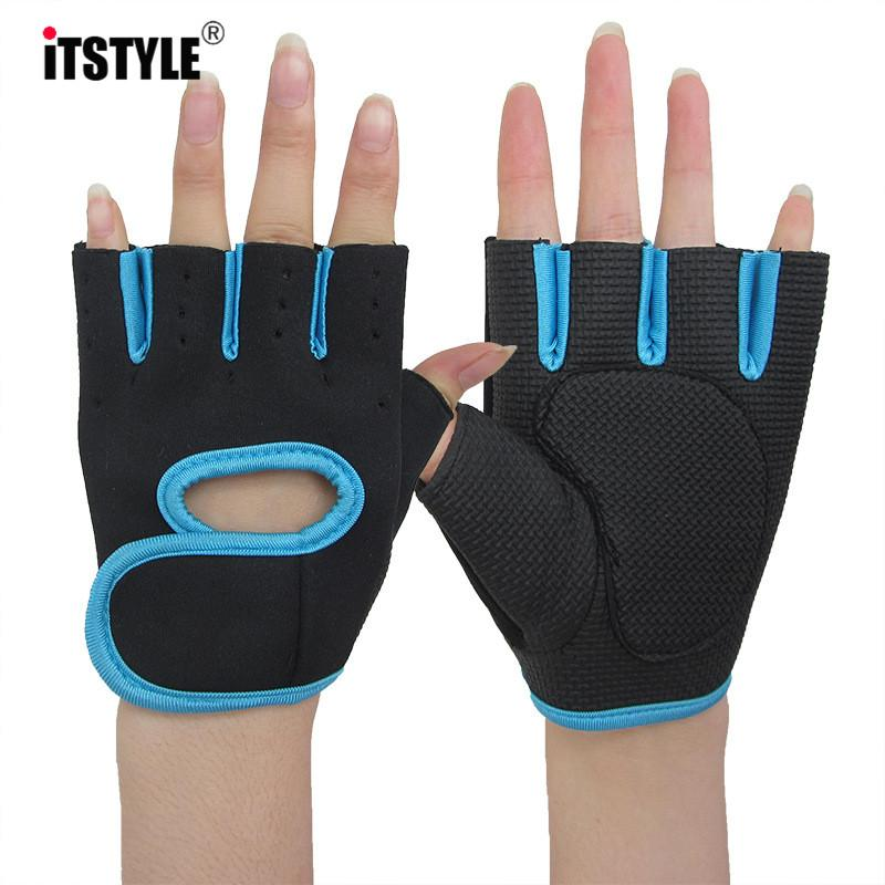 ITSTYLE Men Women Fitness Exercise Workout Weight Lifting help Sport Gloves Gym Body Building Training Half Finger Glove