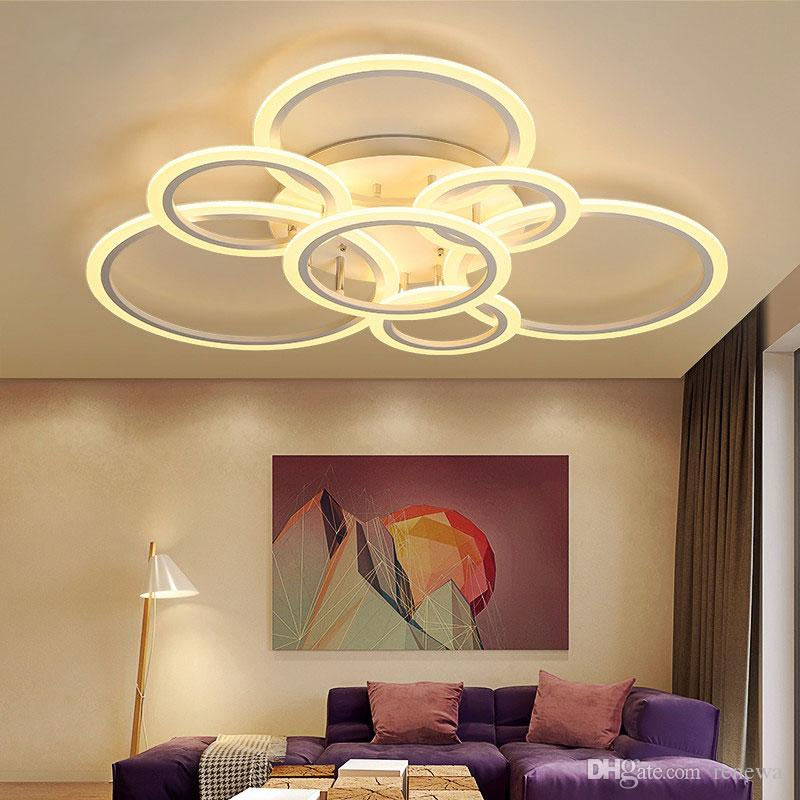 Plafoniere moderne del nuovo di arte acrilico LED Soggiorno plafoniera  Camera da letto Lampade decorative Lamparas de techo infissi