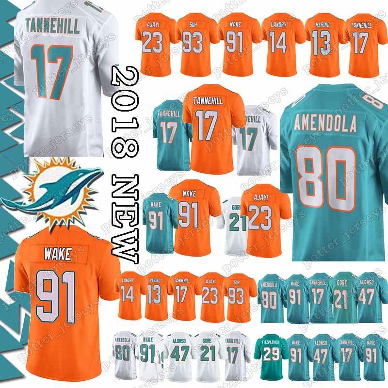 official photos f7b46 d91b4 Miami Jerseys 80 Danny Amendola Dolphins 91 Cameron Wake 17 Ryan Tannehill  23 Jay Ajayi Dan Marino Minkah Fitzpatrick Jersey promotion