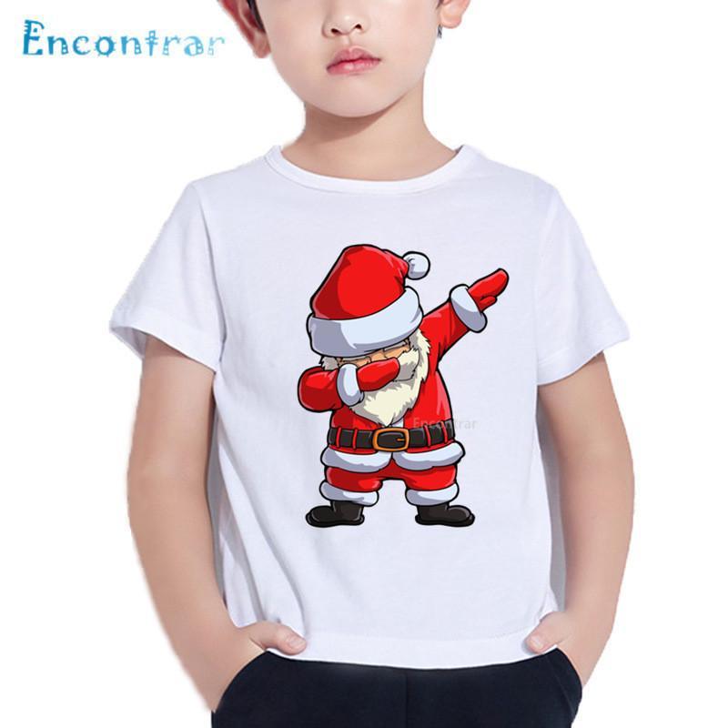 c1ac016d5 2019 Merry Christmas Dabbing Santa Print Kids T Shirt Baby Funny Cartoon T  Shirt Boy/Girl Summer Short Sleeve Clothes,HKP5112 From Superbest17, ...