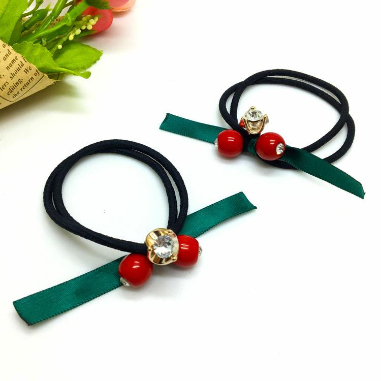 Girl Fashion Scrunchy Three-in-one Elastic Hair Bands High Quality Gum for hair Accessories for Women Lovely Rubber Bands
