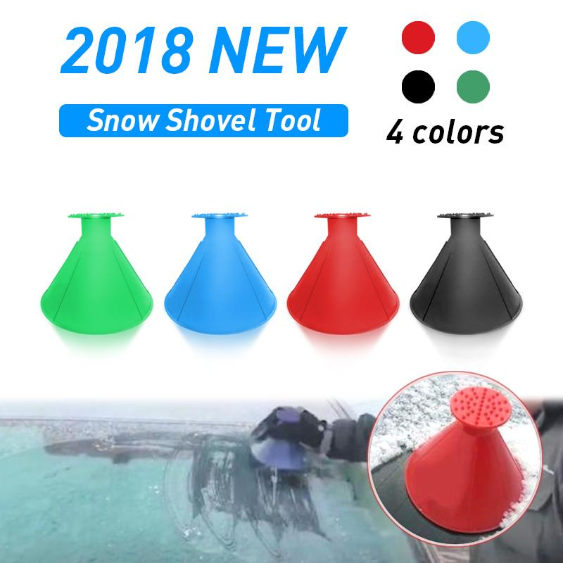 United Outdoor Ice Shovel Cone Shaped Funnel Snow Remover Clean Tool Scrape Ice Scraper Useful Car Windshield Snow Removal Magic Cleaning Tools Garden Tools