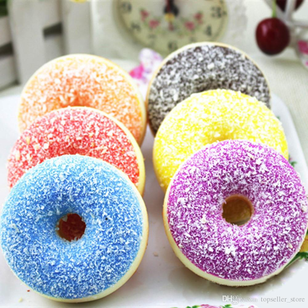 Novelty & Gag Toys 1pc Squishy Squeeze Stress Reliever Decor Toys Colourful Doughnut Scented Slow Rising Toy Antistress Decompression Toy Gift 20 Gags & Practical Jokes