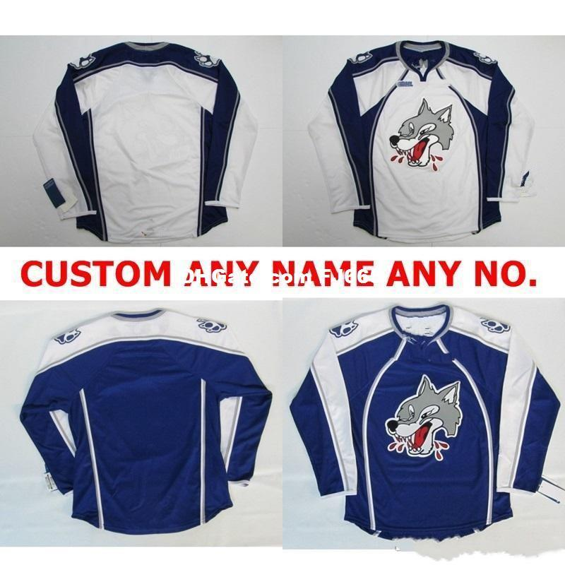Customize OHL Sudbury Wolves Jersey Mens Womens Kids Personalized 100% Stitched Any Name NO.Ice Hockey Jerseys Goalit Cut Hot sale