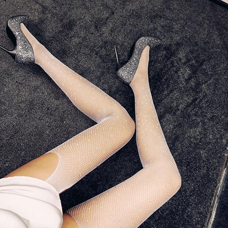 Sexy Women Summer Thin Silk Socking NUEVO Sexy Women Open Crotch Crotchless Sheer Pantyhose Seda Envío de DHL